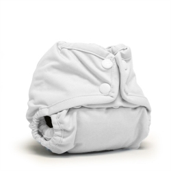 Rumparooz Lil Joey Newborn Snap Cover White
