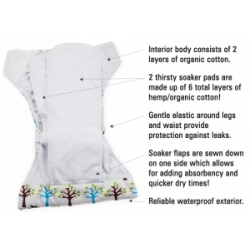 Thirsties Natural fiber newborn aio